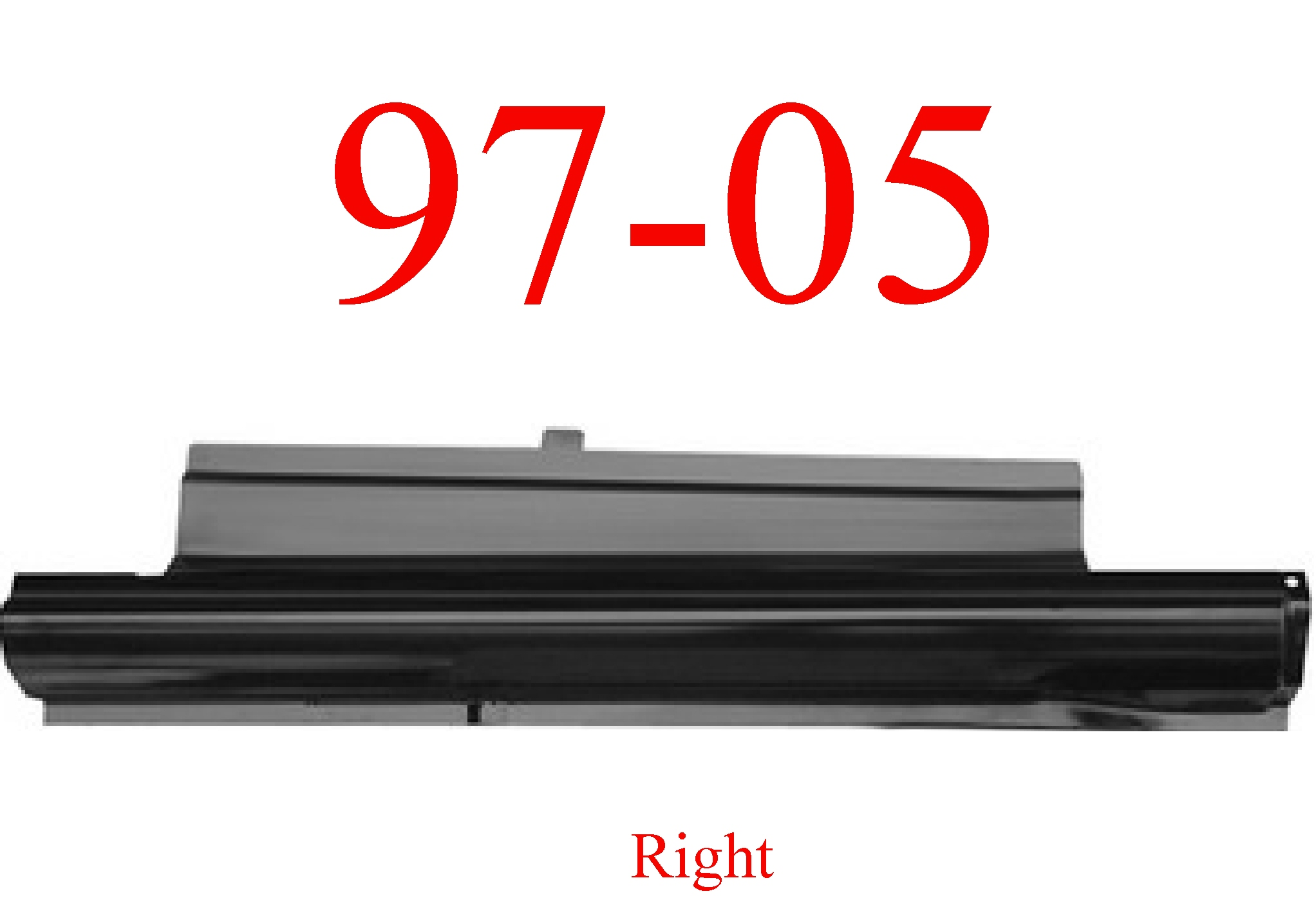 97-05 Chevy Venture Right Slip-On Rocker Panel